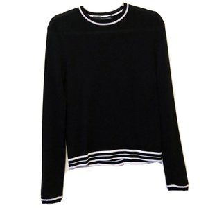 360 Sweater Italian Black Lightweight Cutout M